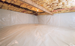 Crawl Space Moisture Barrier After in Sparks